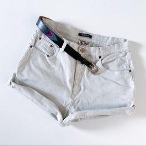 Vintage Bill Blass white denim shorts High waist